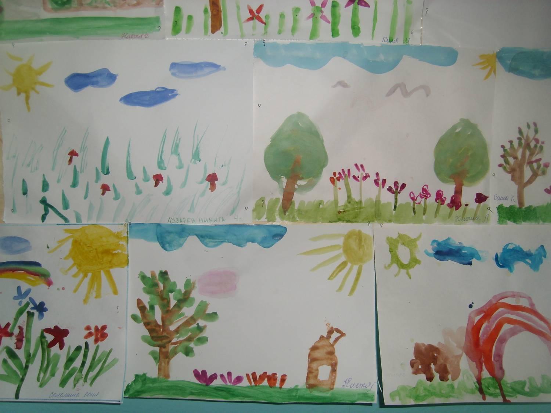 Конкурс рисунков здравствуй лето в детском саду